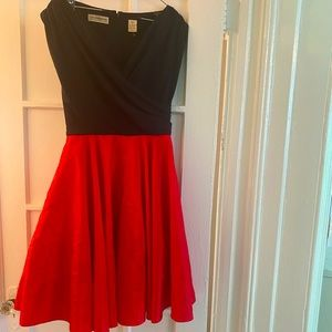 1990s Liz Claiborne Party Dress Fit and Flare